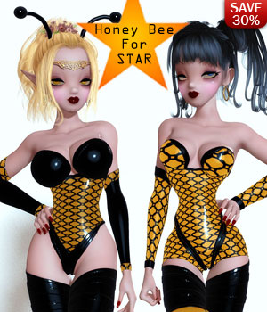 B#1 1 Click STAR Honey Bee SiperSkinz Bodyglove Kit by lululee