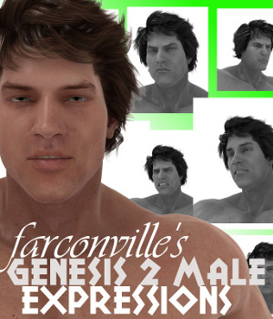 Genesis 2 Male Expressions 3D Figure Essentials farconville