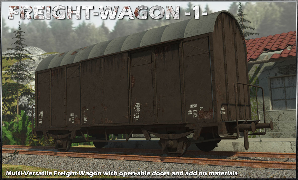 Freight Wagon 1 by 3-d-c