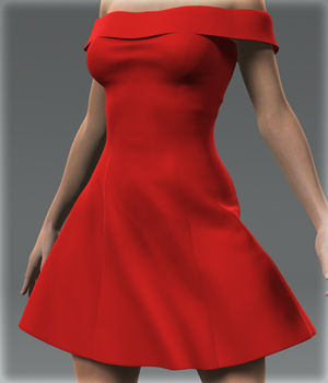 Shoulder Dress for G2F 3D Figure Essentials kang1hyun