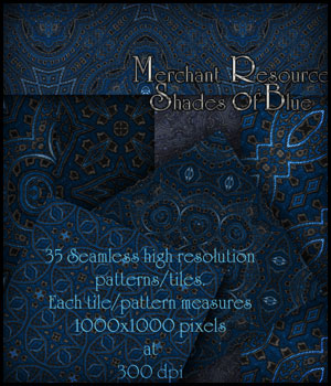 Merchant Resource - Shades of Blue 2D Graphics Merchant Resources antje