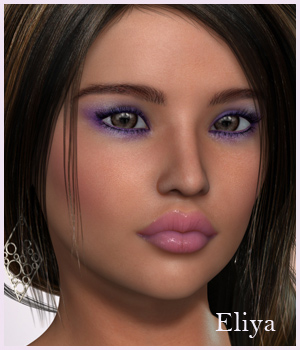 VHP3D Eliya for Genesis 2 Female 3D Figure Assets Godin
