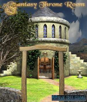 Fantasy Throne Room 3D Models BlueTreeStudio