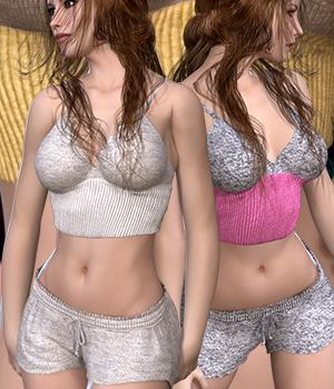 Sleepy Wear for V4A4G4Elite 3D Figure Assets RainbowLight