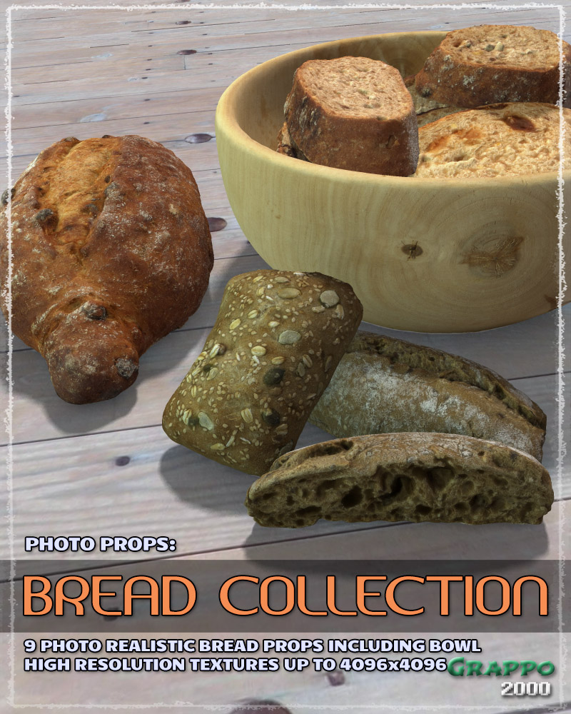 Photo Props: Bread Collection by ShaaraMuse3D