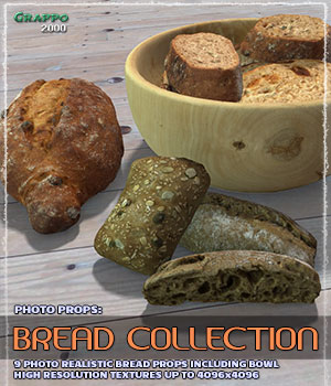 Photo Props: Bread Collection 3D Models Grappo2000