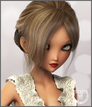 Spring Bride Hair and OOT Hairblending 3D Figure Assets outoftouch