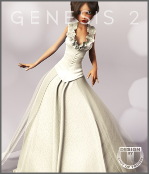 Spring Bride Gown for Genesis 2 Female(s) 3D Figure Essentials outoftouch