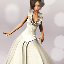 Spring Bride Gown for Genesis 2 Female(s) image 4