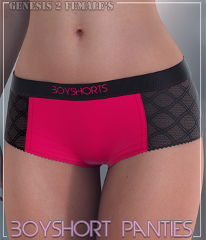 Boyshort Panties for G2F 3D Figure Assets lilflame