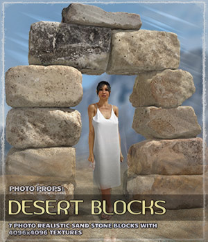 Photo Props: Desert Blocks 3D Models ShaaraMuse3D
