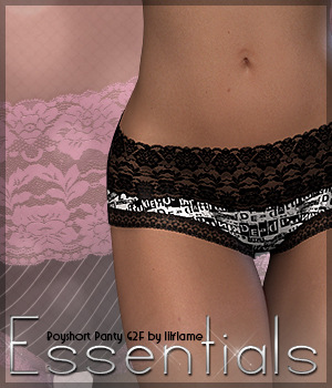 Essentials for Boyshort Panty G2F 3D Figure Essentials Sveva