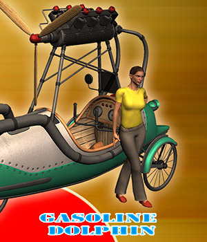 Gasoline dolphin 3D Models 1971s