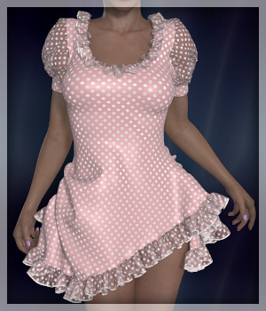 Dynamics 03 - Alice Dress for V4 3D Figure Essentials Lully