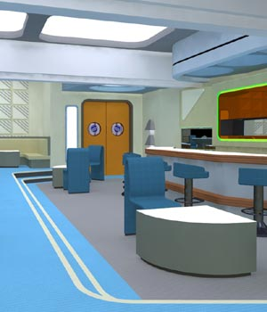 Starship Observation Lounge (for Poser) 3D Models VanishingPoint