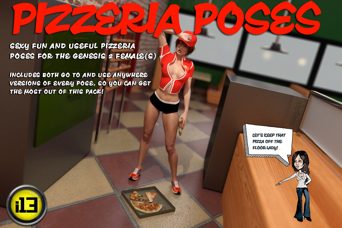 i13 Pizzeria POSES G2F/V6 by ironman13