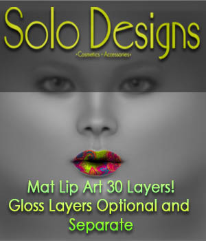 Solo Designs- Mat Lip Art 30 Designs 2D Graphics MSolo