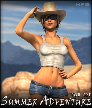 HFS Summer Adventure for G2F 3D Figure Assets DarioFish