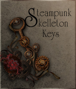 Steampunk Skelleton Keys 2D Graphics antje