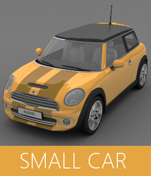 Small Car 3D Models TruForm