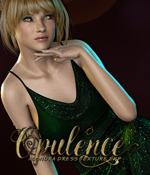 Opulence for Alondra Gown 3D Figure Assets secretheart