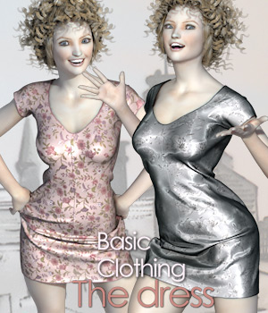 "BasicClothing for V4 ""The Dress"" 3D Figure Essentials 2D Tipol"