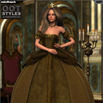 ROYAL STYLES for Cinderella Ball Gown for Genesis 2 Female(s) image 1