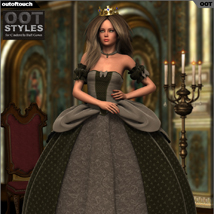 ROYAL STYLES for Cinderella Ball Gown for Genesis 2 Female(s) image 3