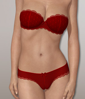 Strapless Bra Set 3D Figure Essentials 3D-Age