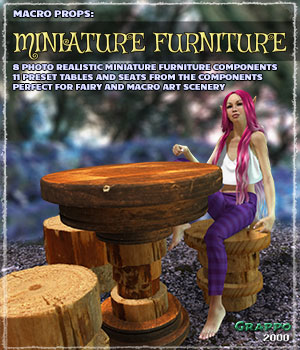 Macro Props: Miniature Furniture 3D Models ShaaraMuse3D