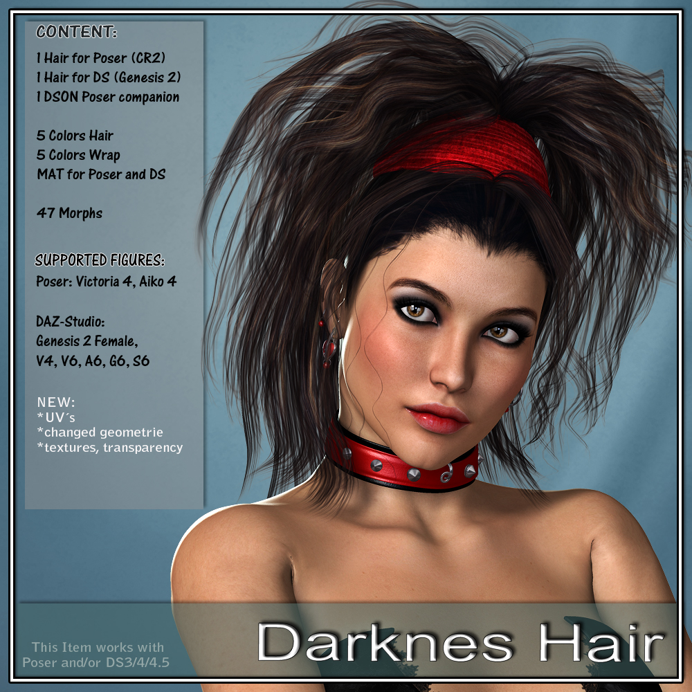 Darkness Hair for V4 and G2