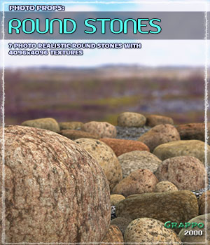 Photo Props: Round Stones 3D Models Grappo2000