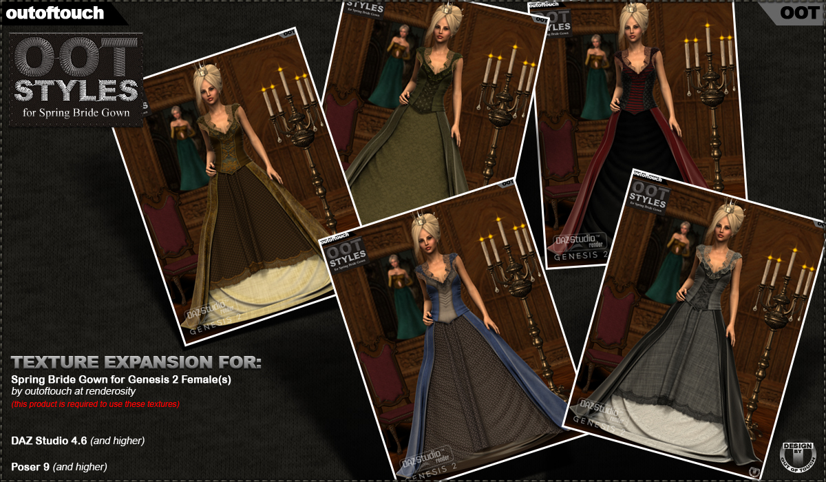 ROYAL STYLES for Spring Bride Gown for Genesis 2 Female(s)