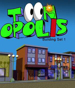 Toonopolis Toon City Street One 3D Models LukeA