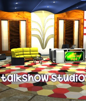 Talkshow studio 3D Models greenpots