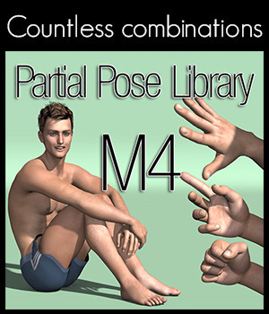 Partial Pose Library M4 3D Figure Assets 2nd_World