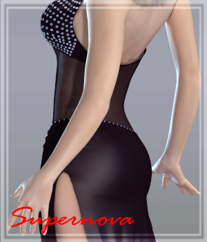 Bejeweled Gown 3D Figure Assets -supernova-
