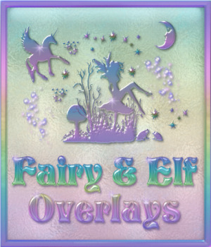 Design Resource: Fairy & Elf Transparent Seamless Overlays 2D Graphics Merchant Resources fractalartist01