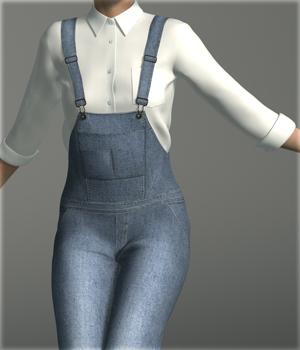 Denim Overalls for G2F 3D Figure Essentials kang1hyun