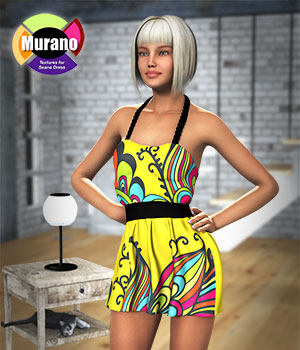 Murano Textures for Seana Dress 3D Figure Assets versluis