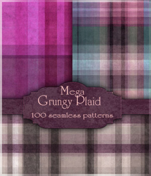 MR- Mega Grungy Plaid 2D Graphics Merchant Resources antje
