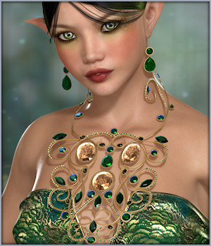 Peacock Jewels 3D Figure Essentials -Wolfie-