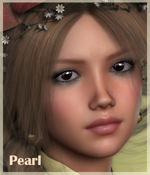 VH Pearl for Genesis 2 Female 3D Figure Assets Godin