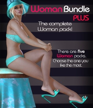 Woman Bundle PLUS - Strapless Bra Set & V4 3D Figure Essentials nirvy