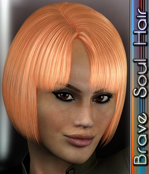 Brave Soul Hair 3D Figure Assets 3Dream
