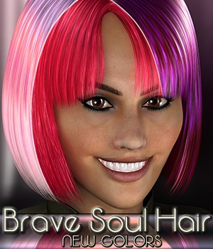 Brave Soul Hair - NEW COLORS 3D Figure Assets 3Dream