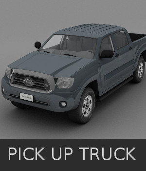 Pick up Truck 3D Models TruForm