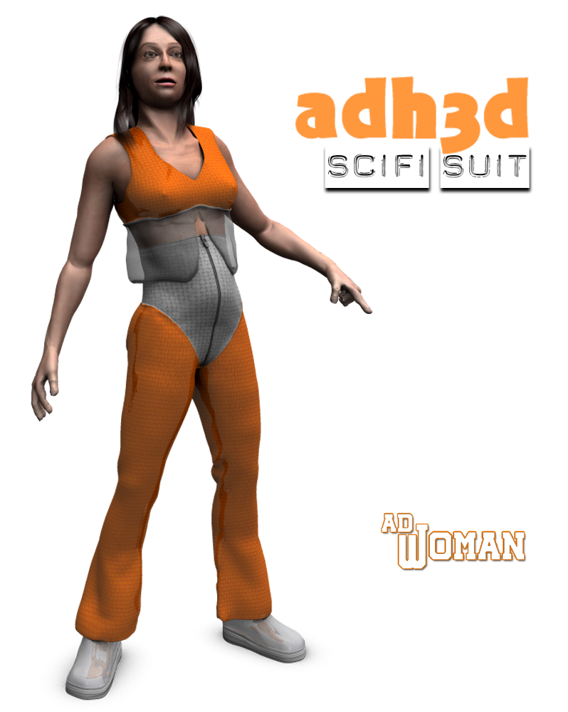 Scifi suit for adWoman