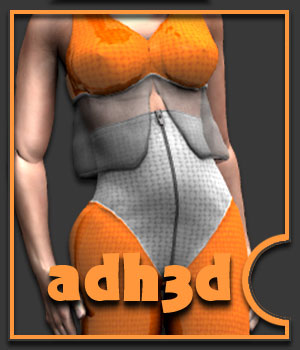 Scifi suit for adWoman 3D Figure Assets adh3d
