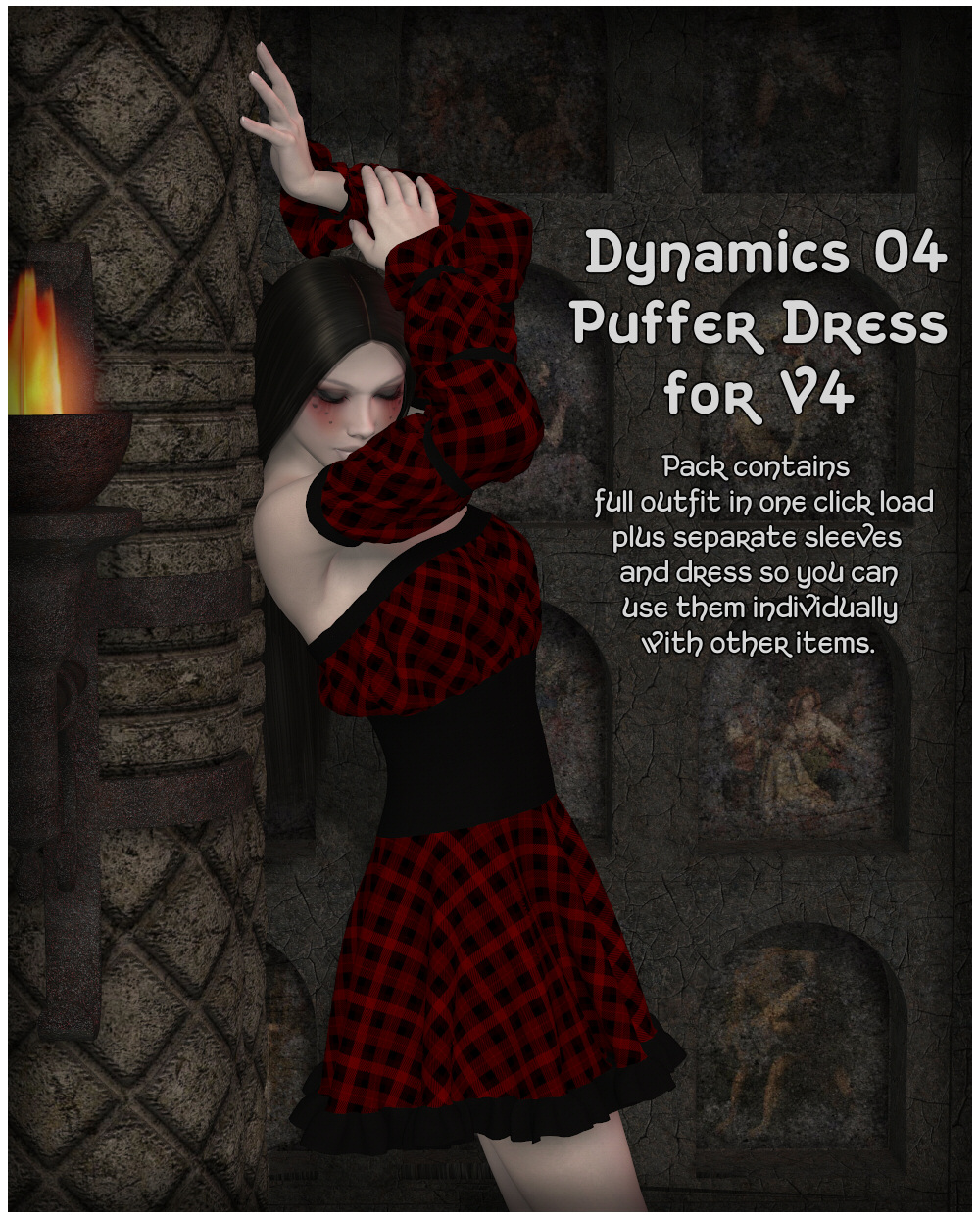 Dynamics 04 - Puffer Dress for V4 by Lully